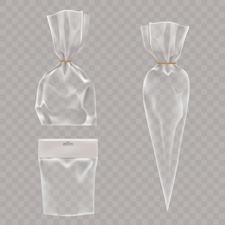 Vector collectie mock-up, verpakkingen voor voedsel en snackproducten. Package template ontwerp voor branding.