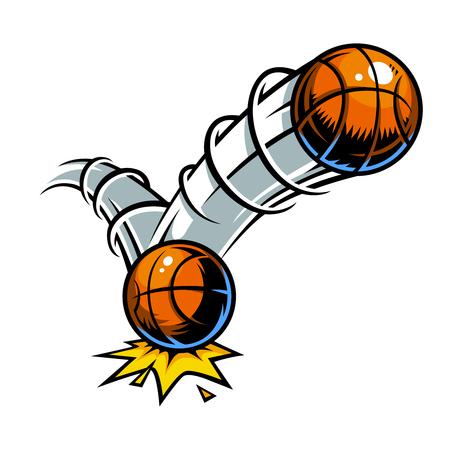 rebound: Vector color comics icon. Comic book element Illustration