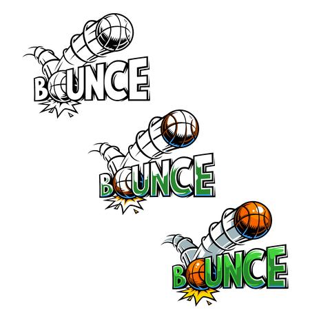 bounce: Vector comics icon.