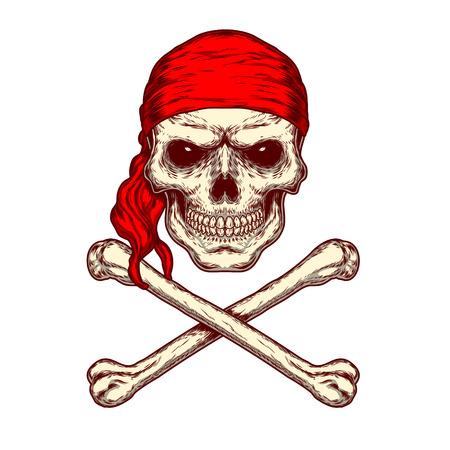 illustration of a skull and crossbones Stock Photo