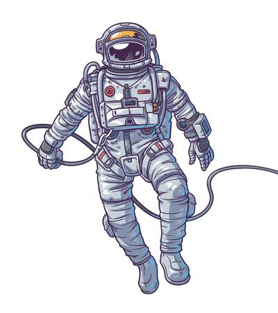 illustration cosmonaut space Stock Photo