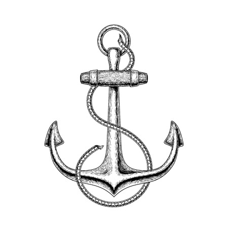 illustration of a nautical anchor Stock Photo