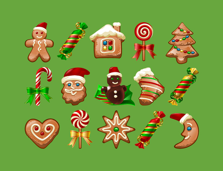 illustration of Christmas sweets. Stock Photo