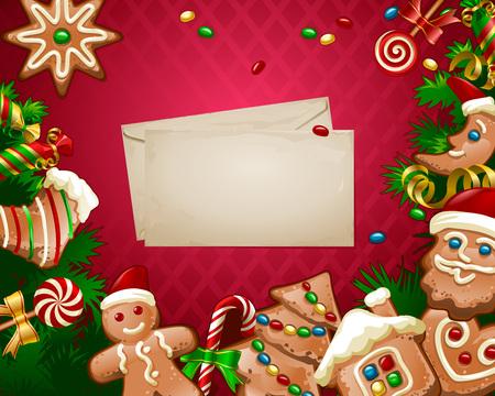 illustration Christmas sweet background Stock Photo