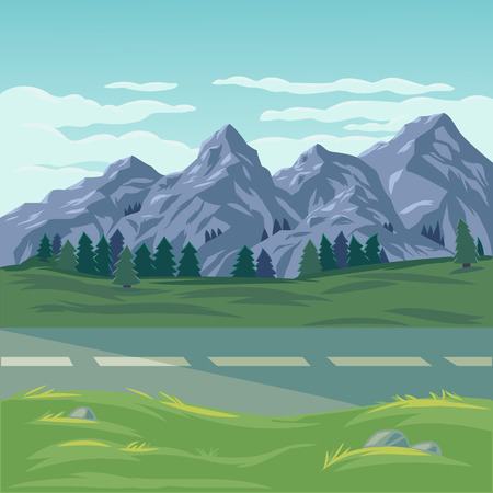 illustration of a mountain landscape