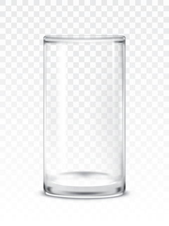 illustration of empty glass cup
