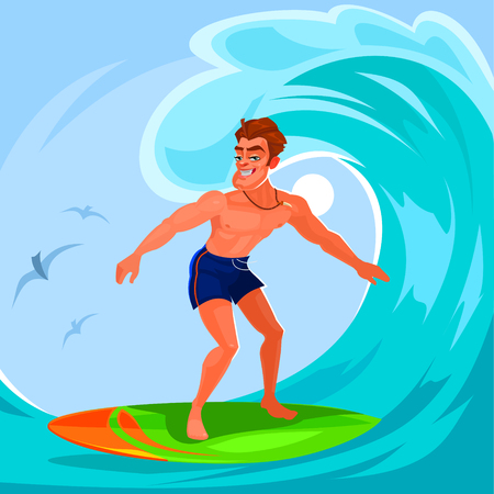 epic: illustration of a surfer