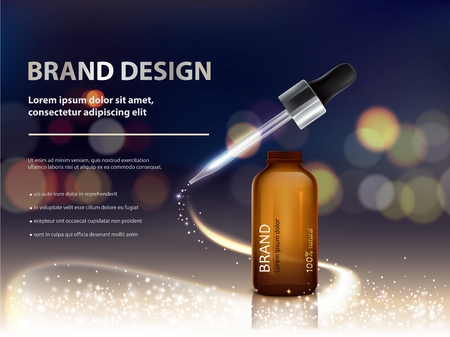 Dark bokeh background with nutrient moisturizing cosmetic premium products