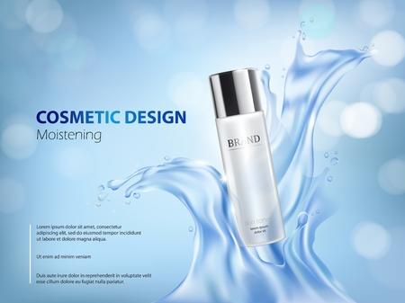 moisturizing: Pink background with moisturizing cosmetic premium products