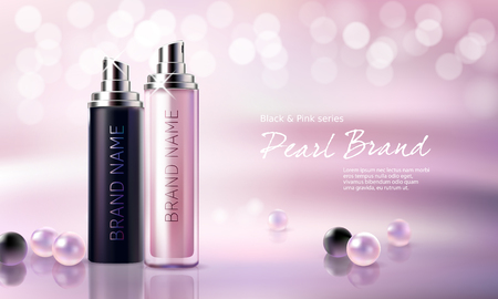 Poster for the promotion of moisturizing and nourishing cosmetic premium product.