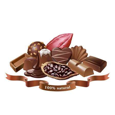 Vector illustration of chocolate sweets