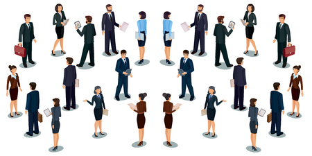 employed: Collection vector illustrations of business people