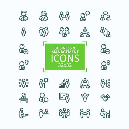 Set vector illustrations fine line icons