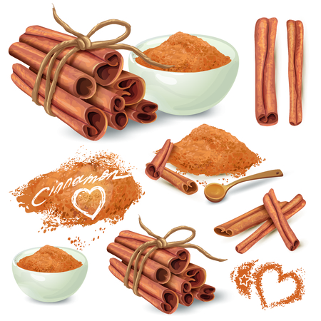 Set of cinnamons