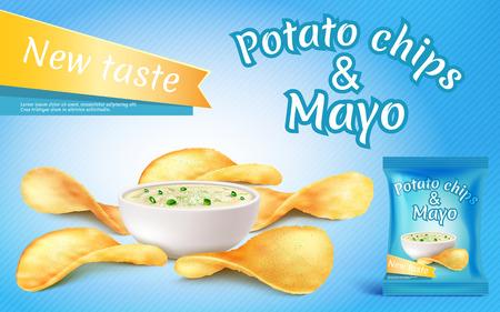Potato chips and mayo image illustration