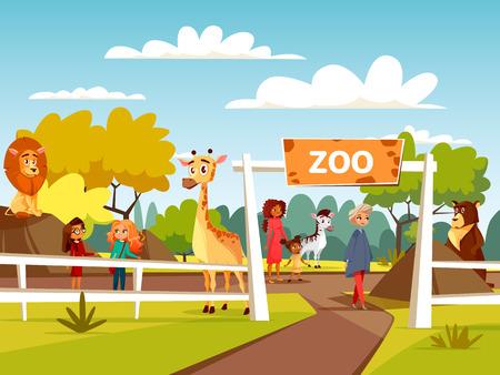 Zoo image illustration Stock Illustratie