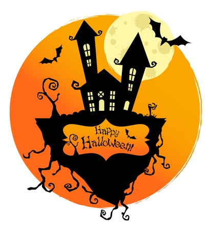Vector halloween background for posters and cards Vector