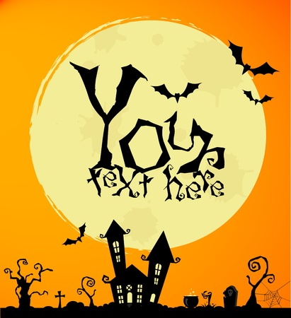 Vector halloween background for posters and cards Иллюстрация