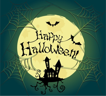 Vector halloween background for posters and cards Çizim