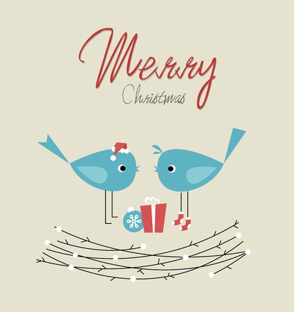 Christmas birds Stock Vector - 10578155