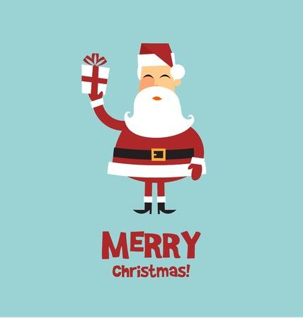 선물 벡터 크리스마스 카드 산타 클로스 일러스트