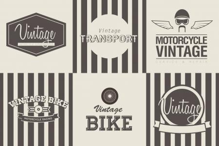 set of six vintage transport emblems photo