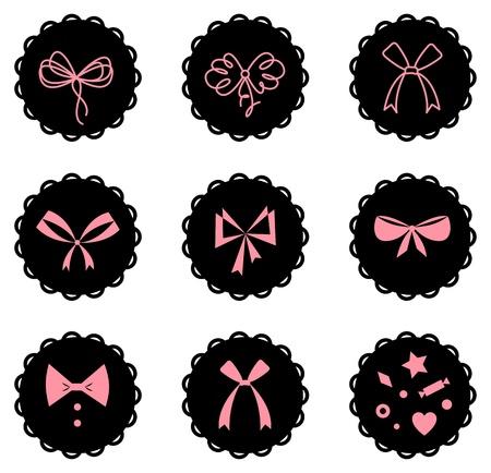 set of bow icons photo