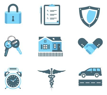 Set von Icons Versicherung