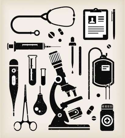 medical icons: set of various medical icons Illustration