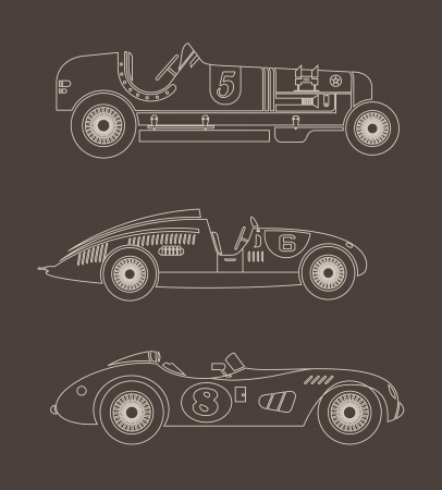 formula one: sport vintage racing cars