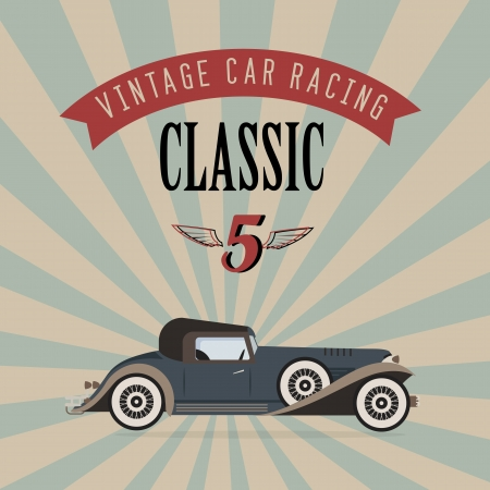 classic car: poster of a classic vintage car Illustration