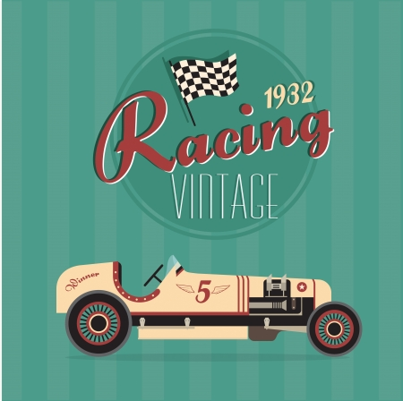 poster of a classic vintage car Illustration