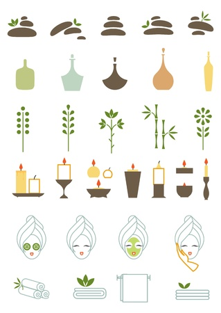 salud sexual: una ilustraci�n vectorial de varios iconos de spa