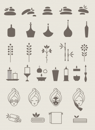 spa: illustration of various spa icons