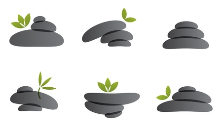 set of spa stones for healthcare products Stock Vector - 21660856