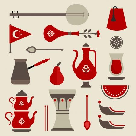 set of cute key travel icons