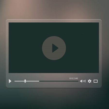hd video: video player on the dark background Illustration