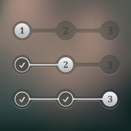 progress bar: set of ui elements step by step progress