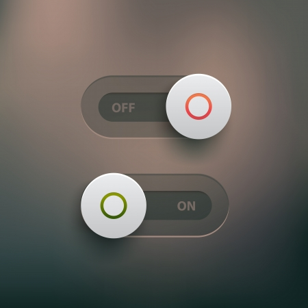toggle: ui elements - on and off sliders