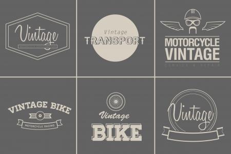 original bike: set of six vintage transport emblems