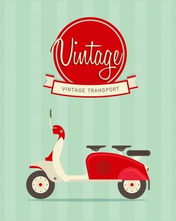 illustration d'une moto vintage stylisé