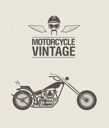 양식에 일치시키는 빈티지 오토바이의 그림