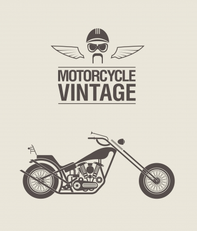 wheal: illustration of a stylized vintage motorcycle