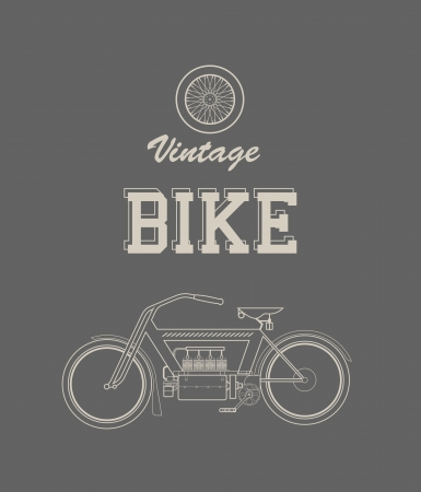 illustration of a stylized vintage motorcycle Vector