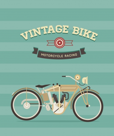 wheal: Vintage bike Illustration