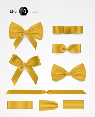 gold ribbon: bow collection Illustration