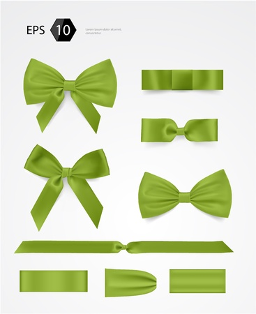 green bow: bow collection Illustration