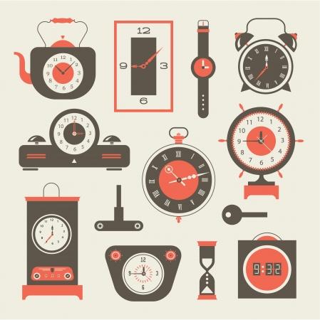 clock face: clock icons set