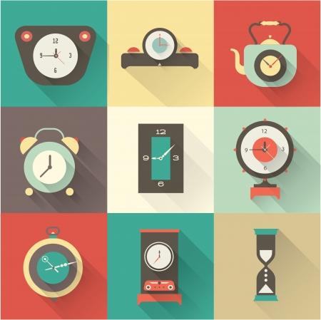 cronometro: Reloj Iconos fijados Vectores