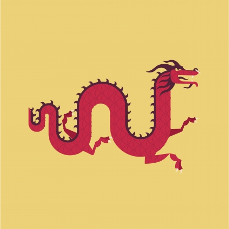 parer: chinese dragon illustration